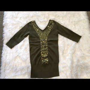 Womens 3/4 Sleeve Lightweight Sweater Top